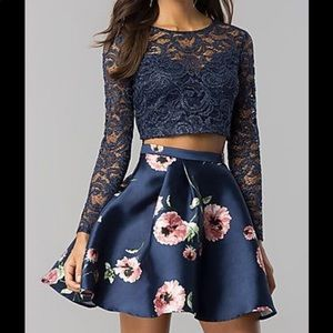 Prom Girl Two Piece Homecoming Dress